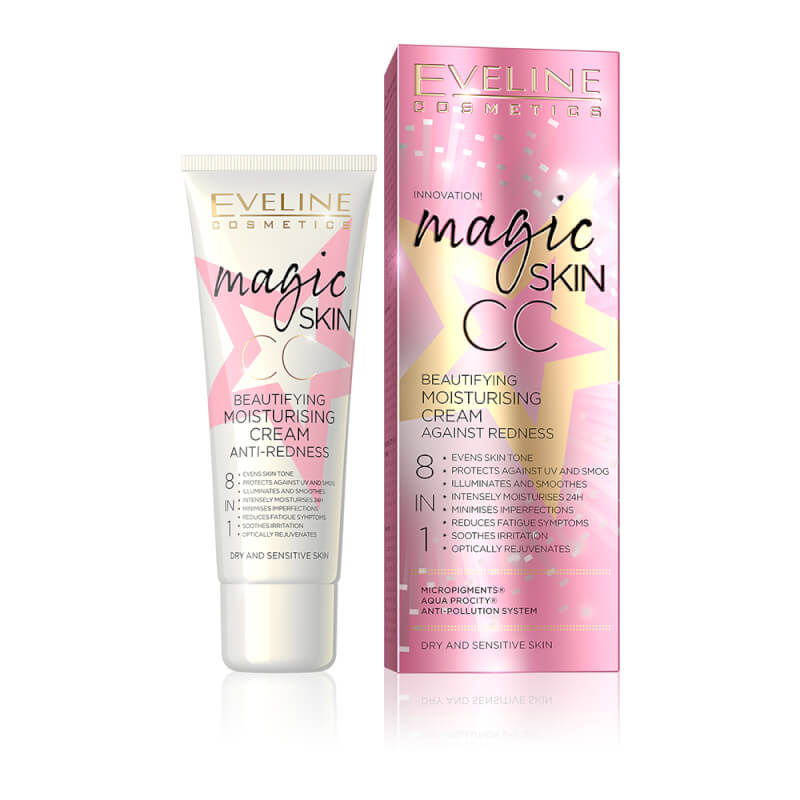 Afbeelding van Eveline Cosmetics Magic Skin Cc Moisturising Cream Anti Redness 8in1 - 50ml
