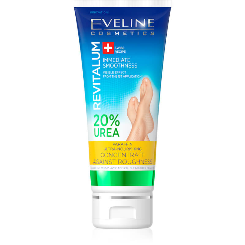 Afbeelding van Eveline Cosmetics Revitalum Paraffin Ultra-nourishing Concentrate Against Roughness 20% Urea 75ml.