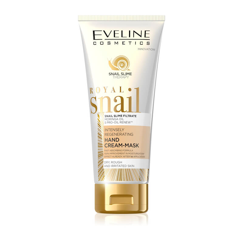 Afbeelding van Eveline Cosmetics Royal Snail Intensely Regenerating Hand Cream Mask 100ml.