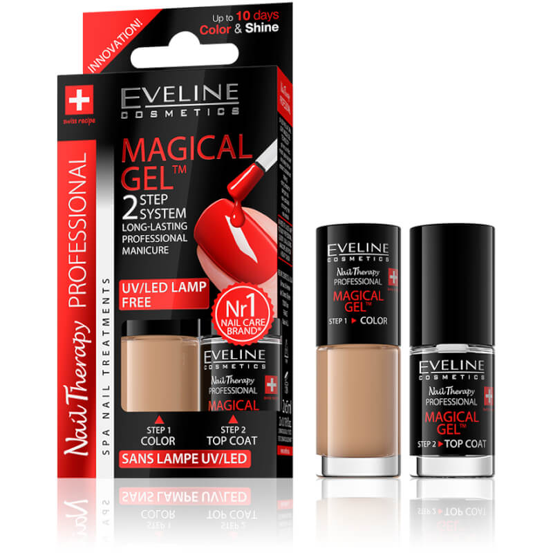 Afbeelding van Eveline Cosmetics Spa Nail Therapy Magical Gel 2x5ml No 2