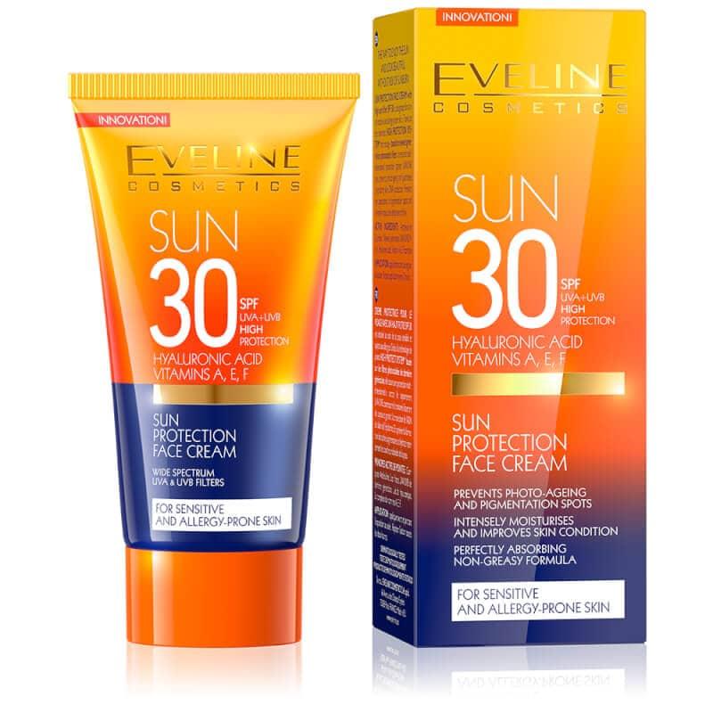 Afbeelding van Eveline Cosmetics Sun Protection Face Cream SPF30 50ml.