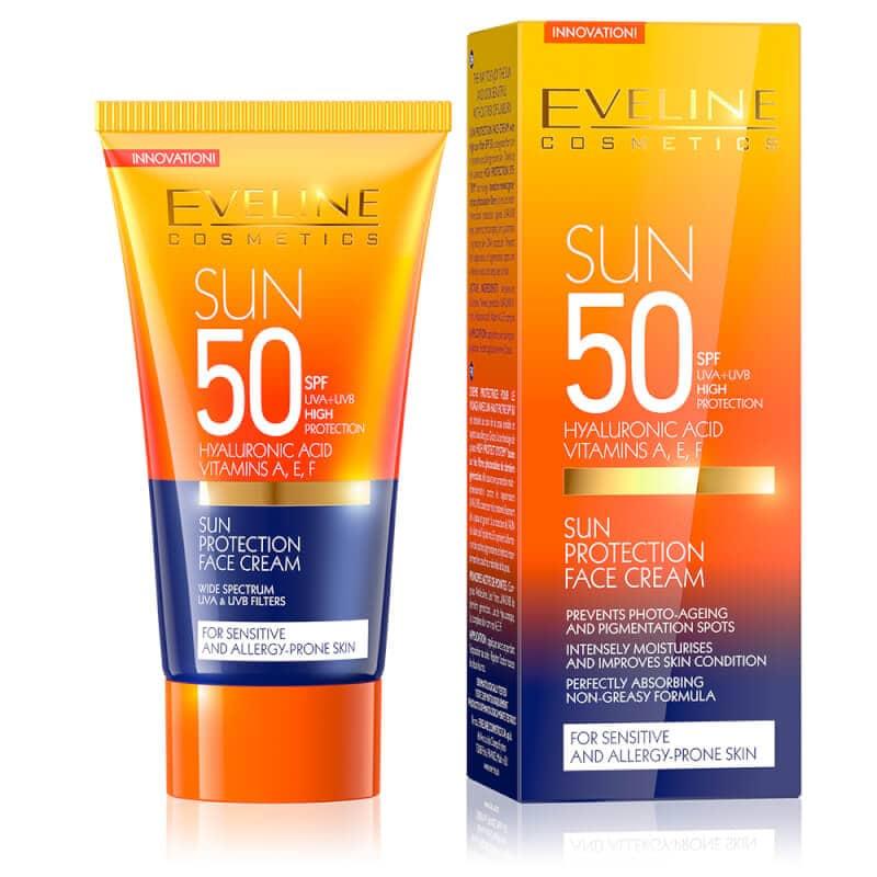 Afbeelding van Eveline Cosmetics Sun Protection Face Cream SPF50 50ml.
