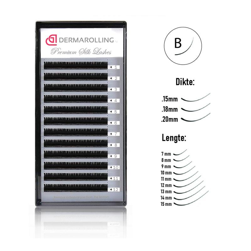 Afbeelding van Dermarolling Exclusive Silk Mink Wimperextensions Krultype B - Dikte 0.15 - Lengte 10mm.