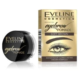 Eveline Cosmetics Eyebrow Pomade Soft Brown