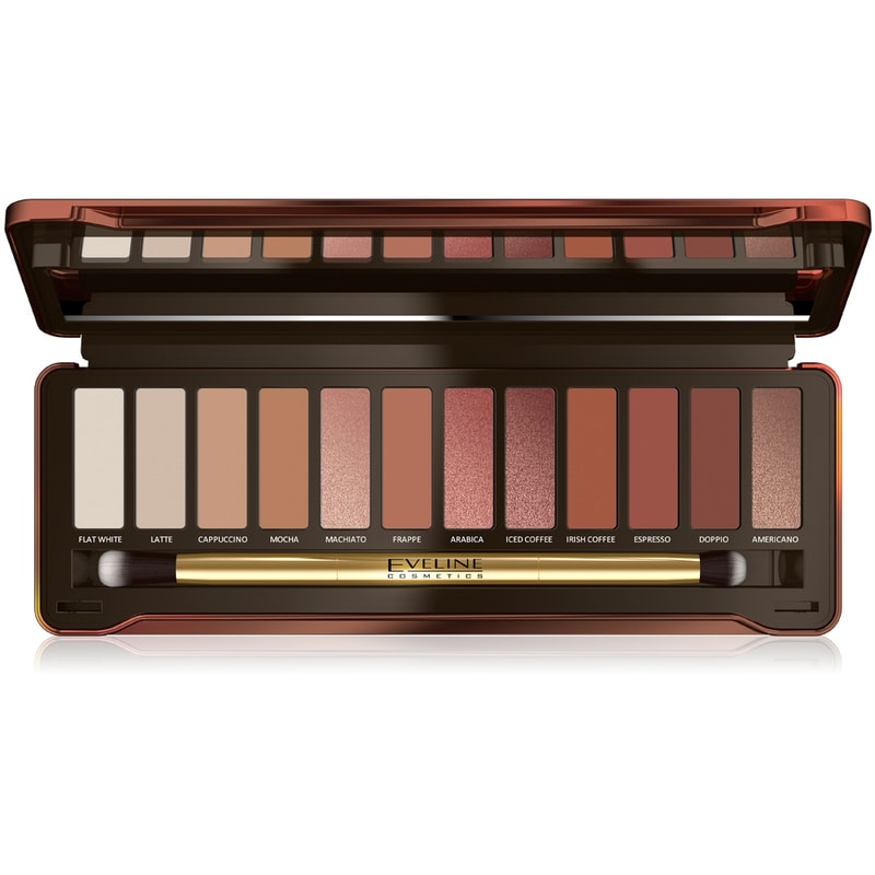 Afbeelding van Eveline Cosmetics Eyeshadow Palette 12 Colors Charming Mocha