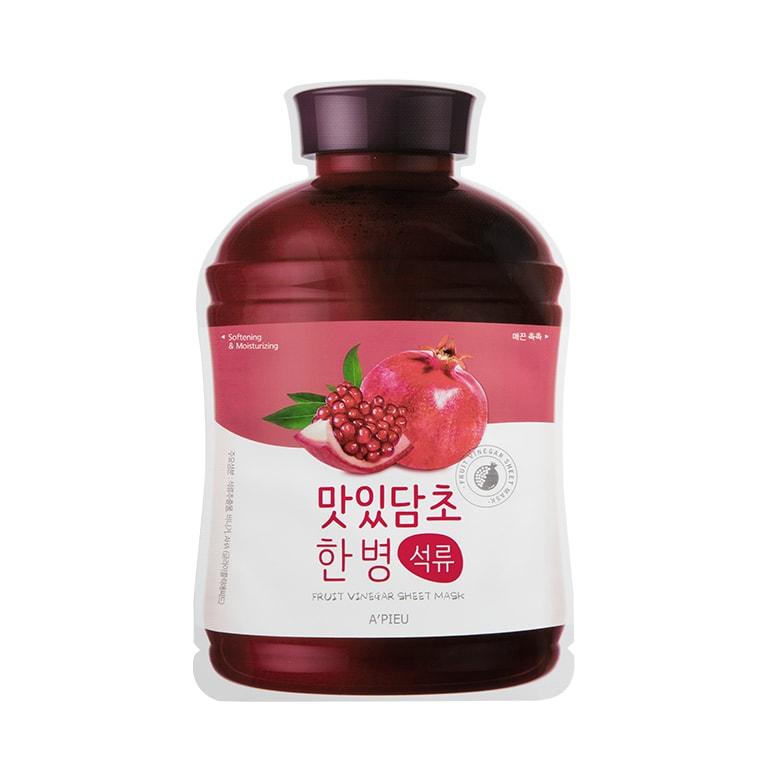 Afbeelding van A'PIEU Fruit Vinegar Sheet Mask Pomegranate 20g.