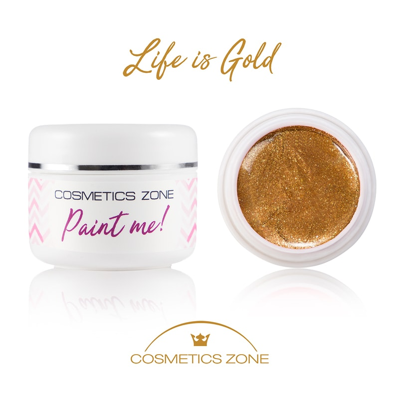 Afbeelding van Cosmetics Zone Paint Me - UV/LED Gel Life Is Gold 5ml.