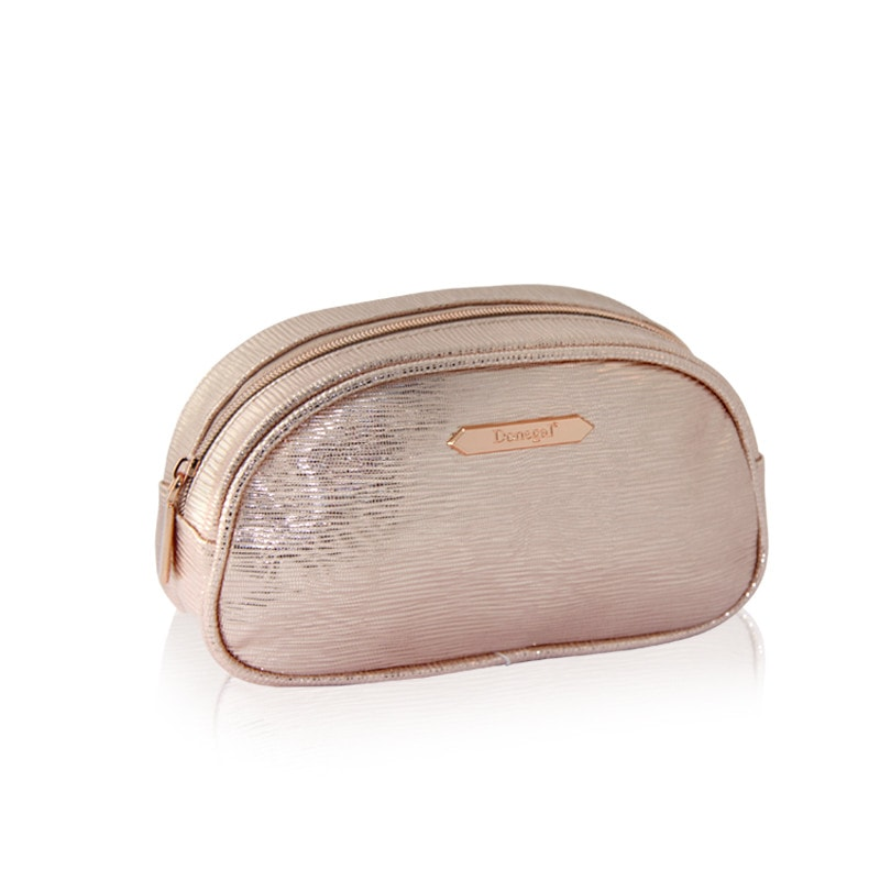 Afbeelding van Donegal Cosmetic Bag - Make-Up Tasje Metallic Rose 2 - 4979