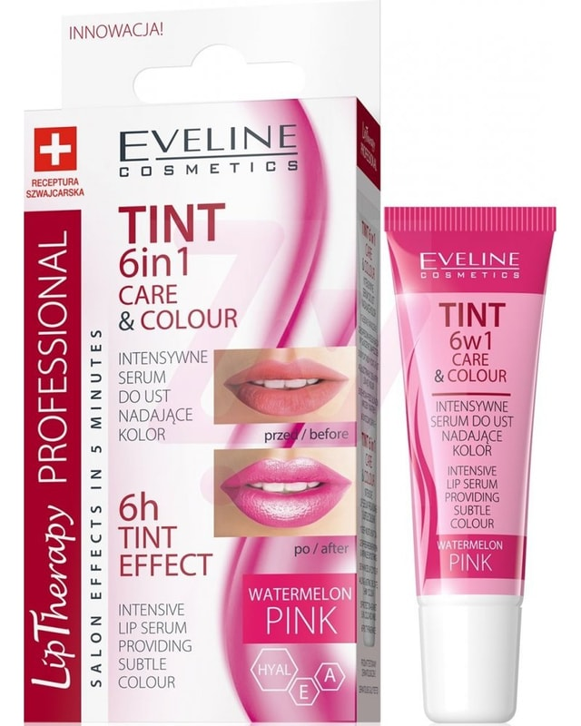 Afbeelding van Eveline Cosmetics Lip Therapy 6in1 Care And Colour Tint Watermelon Pink
