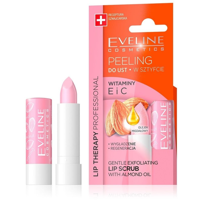 Afbeelding van Eveline Cosmetics Lip Therapy Lip Scrub With Almond Oil