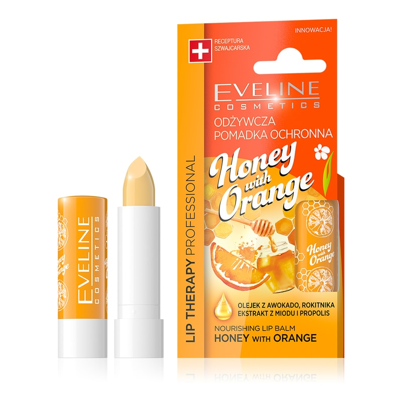 Afbeelding van Eveline Cosmetics Lip Therapy Nourishing Lip Balm Honey And Orange
