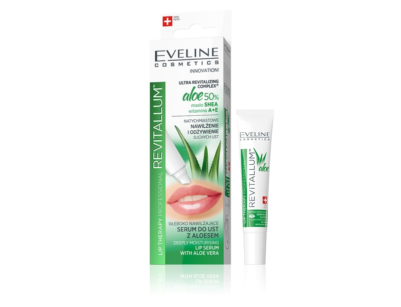 Afbeelding van Eveline Cosmetics Lip Therapy Professional Revitallum Deeply Moisturising Lip Serum With Aloe Vera 8ml