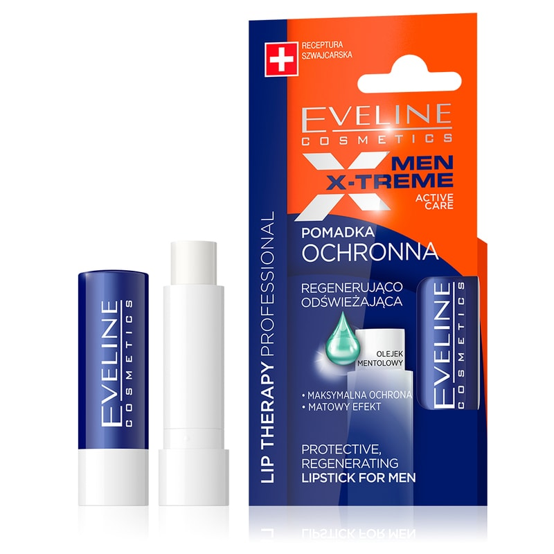 Afbeelding van Eveline Cosmetics Lip Therapy Protective, Regenerating Lipstick For Men