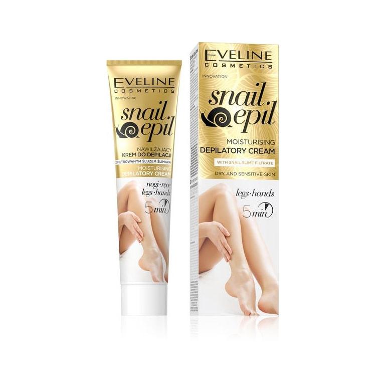 Afbeelding van Eveline Cosmetics Snail Epil Moisturising Depilatory Cream 125ml.