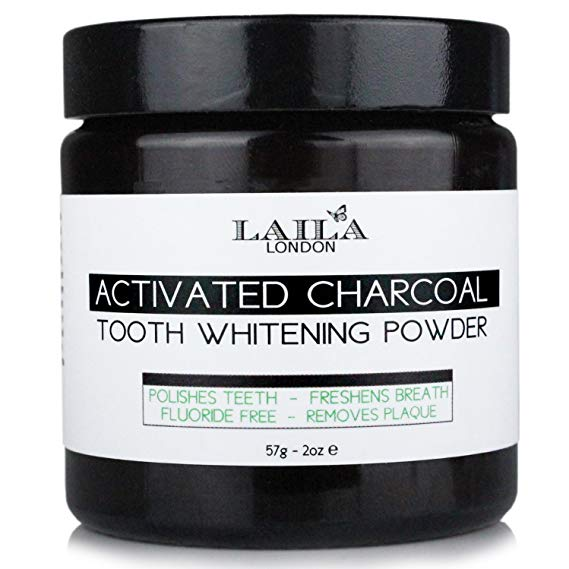 Afbeelding van Laila London 100% Natural Activated Charcoal Toothpowder 60g. Zonder Fluoride