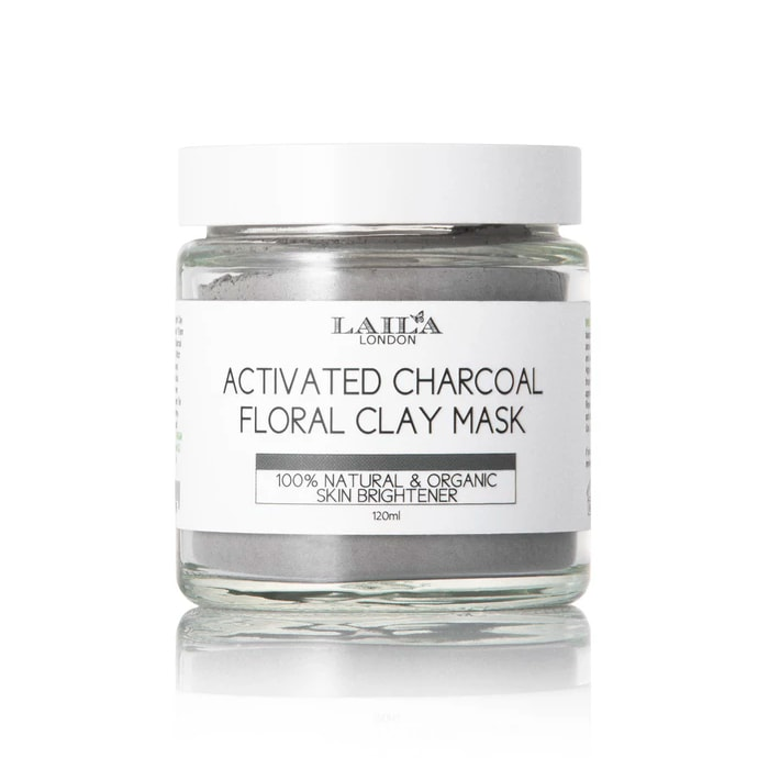 Afbeelding van Laila London Actived Charcoal Floral Clay Mask All Skin Types 120ml.