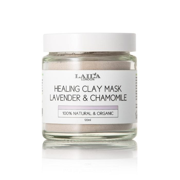 Afbeelding van Laila London Healing Clay Mask Lavender & Chamomile 100% Natural 120ml.