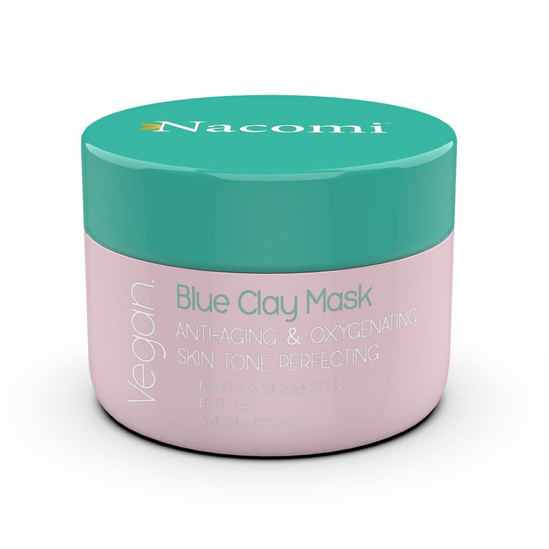 Afbeelding van Nacomi Blue Clay Mask Anti-Aging, Oxygenating, Skin Tone Perfecting 50ml.