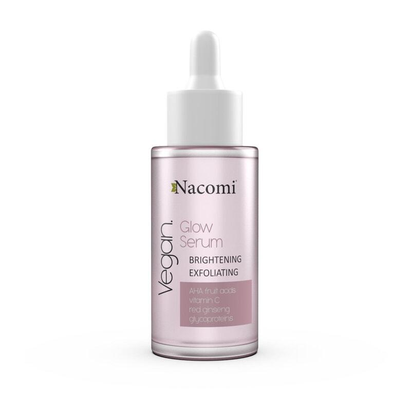 Afbeelding van Nacomi Glow Serum Brightening And Exfoliating Serum with AHA fruit acids and red ginseng 30ml.