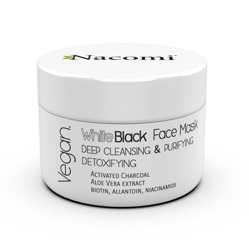 Afbeelding van Nacomi White & Black Face Mask Deep Cleansing, Purifying, Detoxifying 50ml.