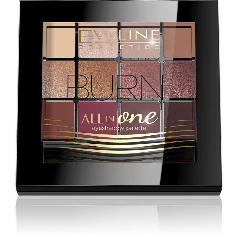 Afbeelding van Eveline CosmeticsEyeshadow Palette All In One 12 Colors Burn 12g.