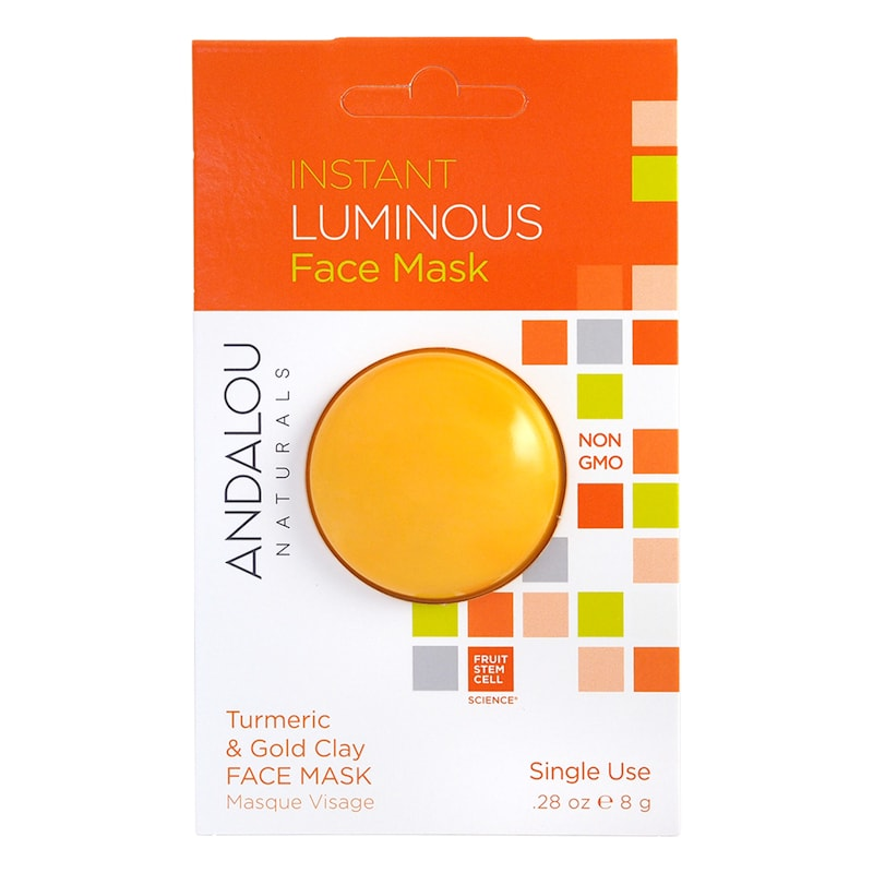 Afbeelding van Andalou Instant Luminous Turmeric & Gold Clay Face Mask 8g.