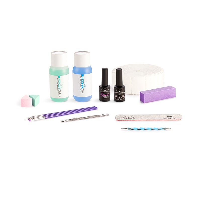 Afbeelding van Cosmetics Zone UV/LED Hybrid Gel Nagellak Set Basis