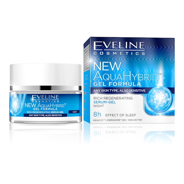 Afbeelding van Eveline Cosmetics New Aqua Hybrid Rich Regenerating Serum- Gel Night 50ml.