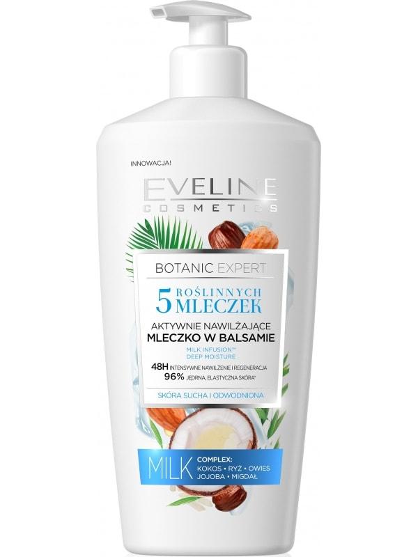 Afbeelding van Eveline Cosmetics Botanic Expert 5 Milks Actively Moisturising Body Lotion In Balm 350ml.
