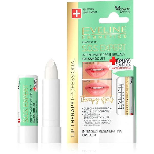 Afbeelding van Eveline Cosmetics Lip Therapy Professional S.O.S. Expert Lip Balm Care Formula