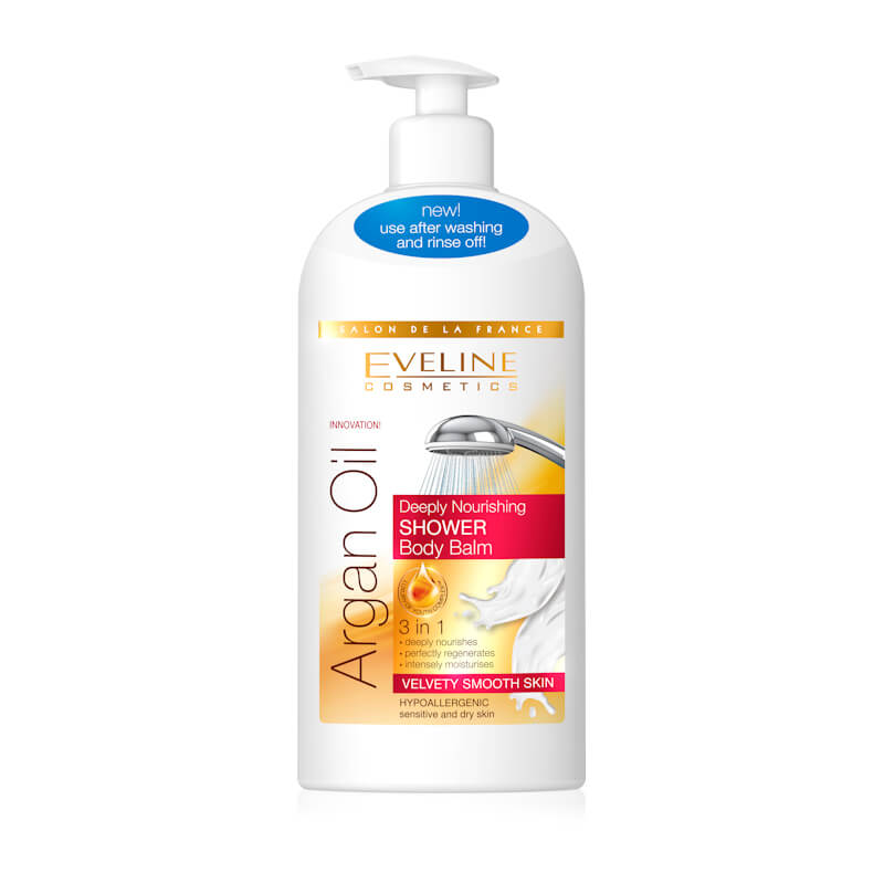 Afbeelding van Eveline Cosmetics Argan Oil Deeply Nourishing In-Shower Body Lotion 350ml.