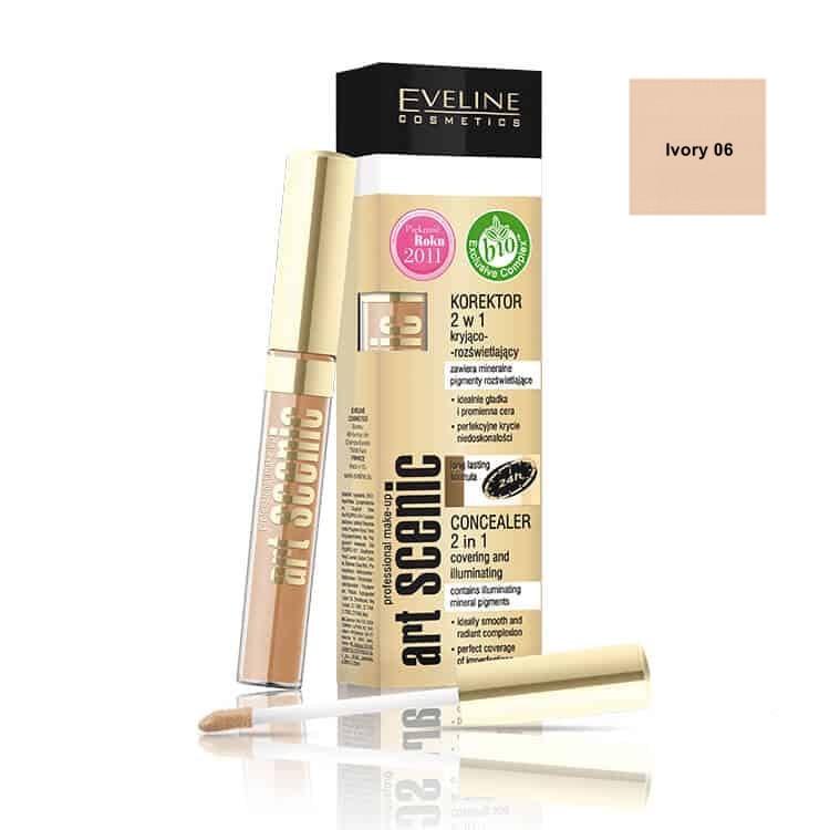 Afbeelding van Eveline Cosmetics Art Scenic Concealer 2in1 Ivory