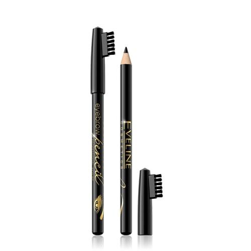 Afbeelding van Eveline Cosmetics Eyebrow Pencil Black With Brush