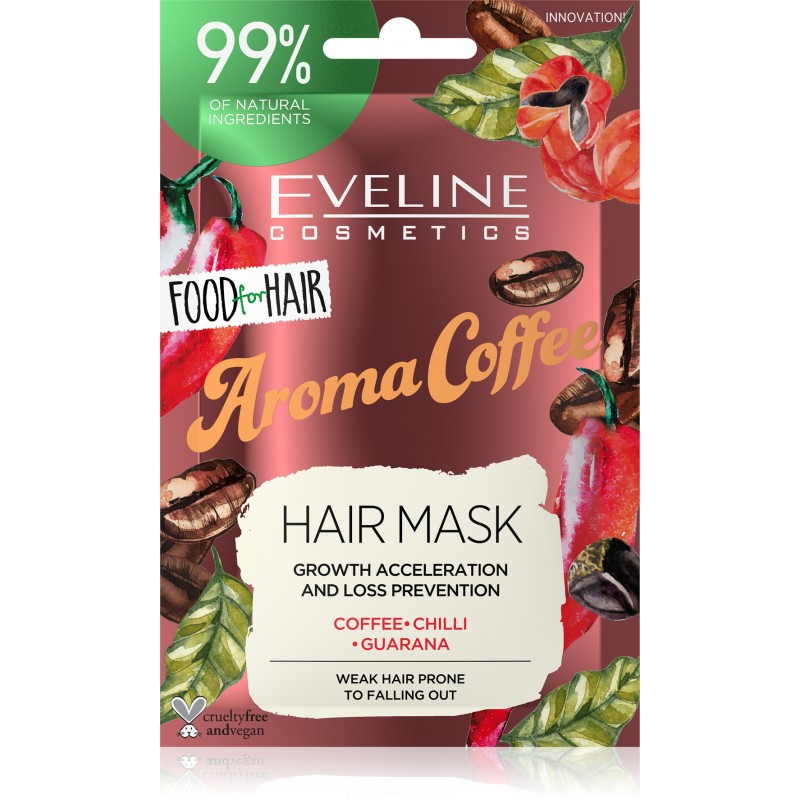 Afbeelding van Eveline Cosmetics Food For Hair Aroma Coffee Hair Mask 20ml.
