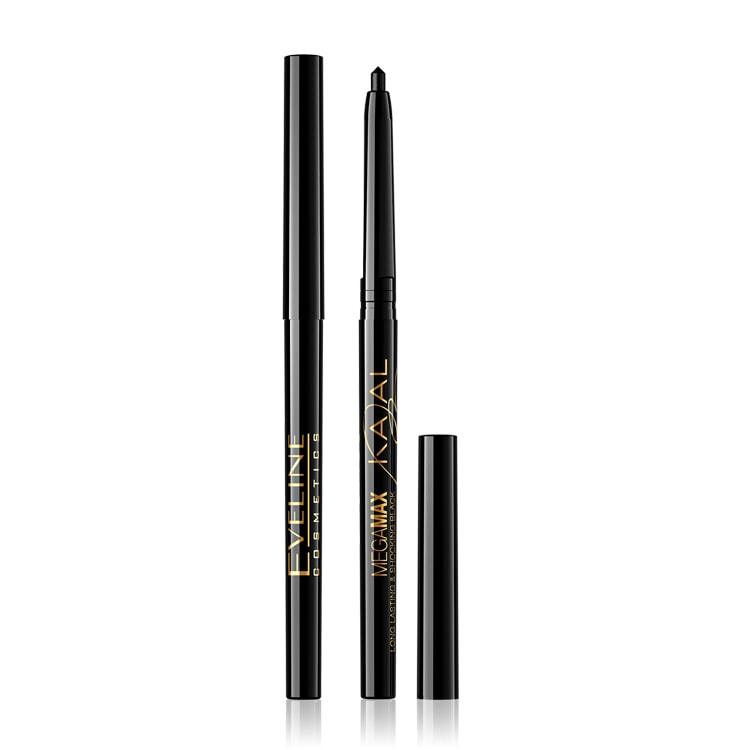 Afbeelding van Eveline Cosmetics Kajal Mega Max Eyeliner Pencil Black