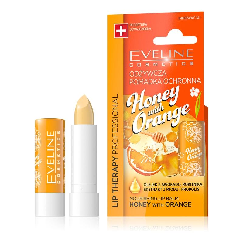 Afbeelding van Eveline Cosmetics Lip Therapy Nourishing Lip Balm Honey And Orange