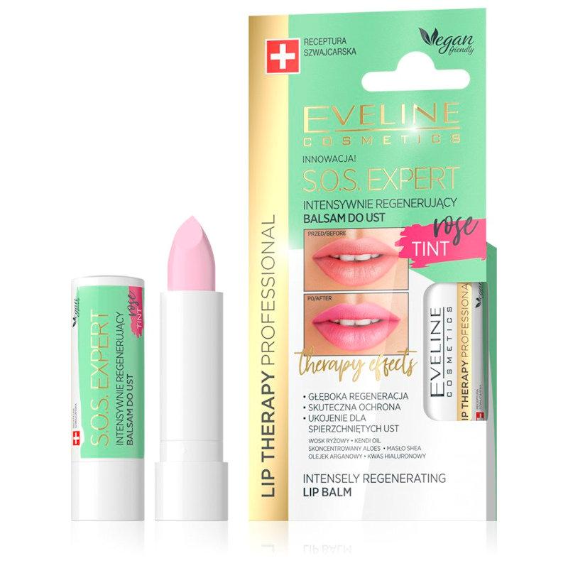 Afbeelding van Eveline Cosmetics Lip Therapy Professional S.O.S. Expert Lip Balm Tint Rose