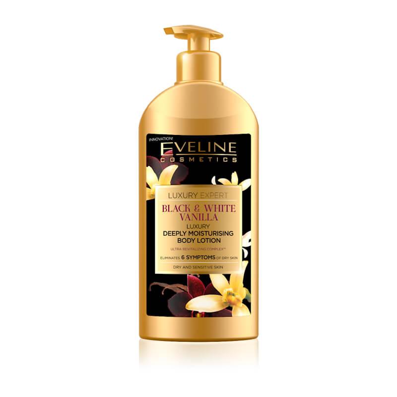 Afbeelding van Eveline Cosmetics Luxury Expert Black & White Vanilla Deeply Moisturising Body Lotion 350ml.