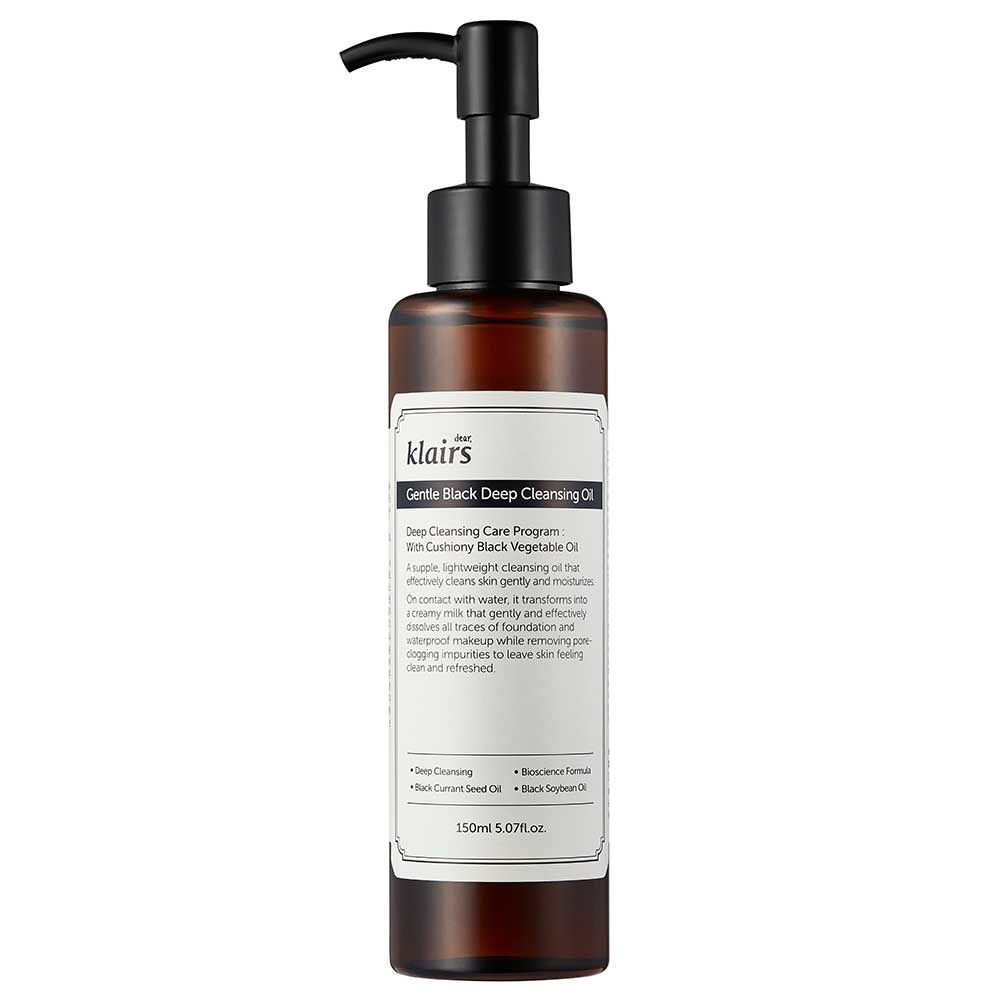 Afbeelding van Klairs Gentle Black Deep Cleansing Oil 150ml.