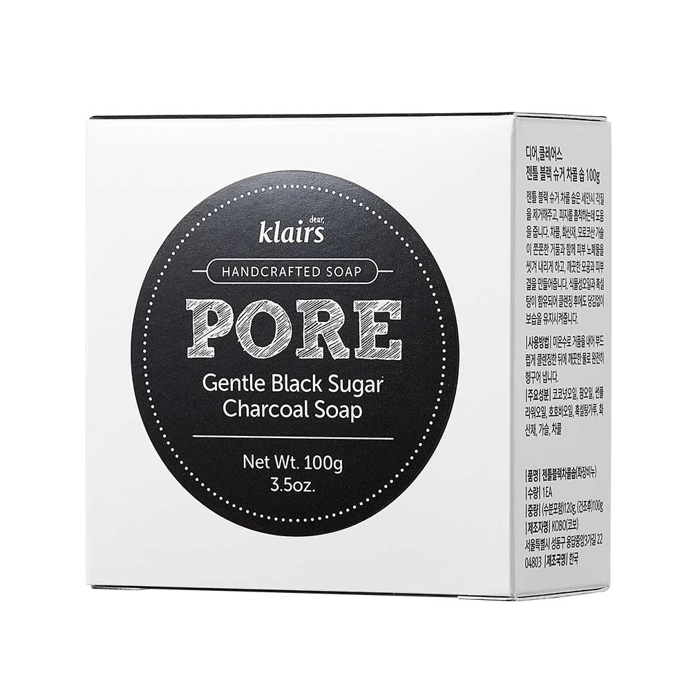 Afbeelding van Klairs Gentle Black Sugar Charcoal Soap 100g.