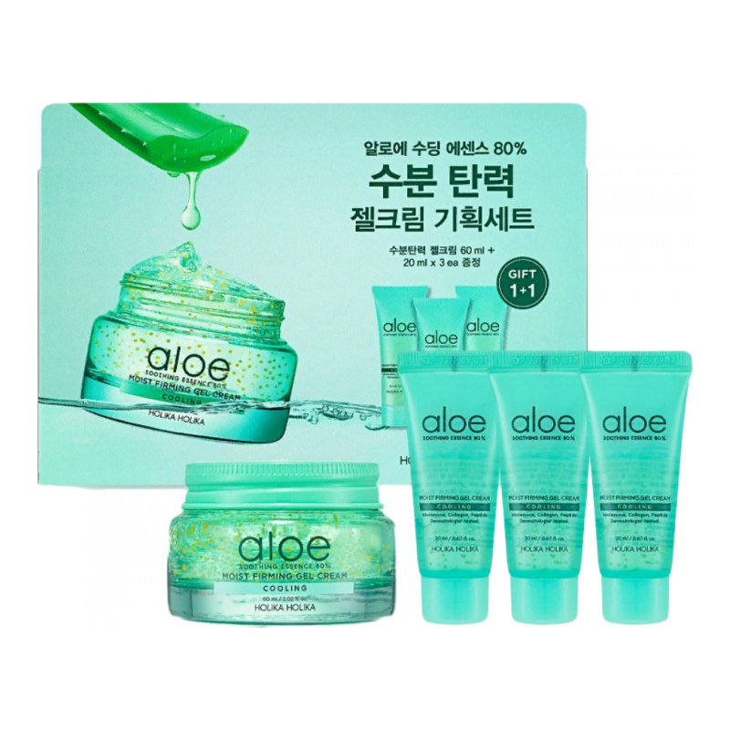 Afbeelding van Holika Holika Aloe Soothing Essence 80% Moist Firming Gel Cream Set
